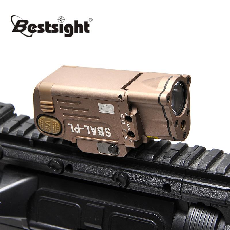 Tactical SBAL-PL Hunting Flashlight Red Laser Pistol Rifle Flashlight and LED Weapon Light Constant Momentary Strobe Flashlight aimtis tactical laser flashlight sbal pl hunting weapon light combo red laser pistol constant
