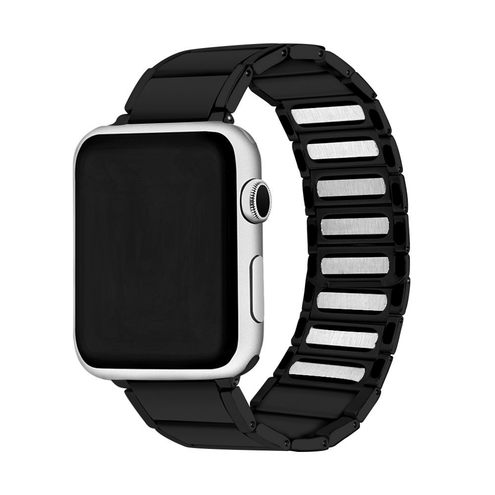 Image 5 - Stainless Steel Strap for apple watch band 38/42mm Metal Link Bracelet watch Strap for apple watch 4 band 40mm Series 1 2 3 44mm-in Watchbands from Watches