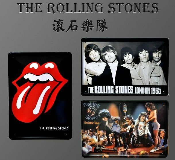 HOT SALE!! The Rolling Stones band Vintage Metal Tin Sign Decor, home decoration, Assorted Styles, Dropship, Wholesale
