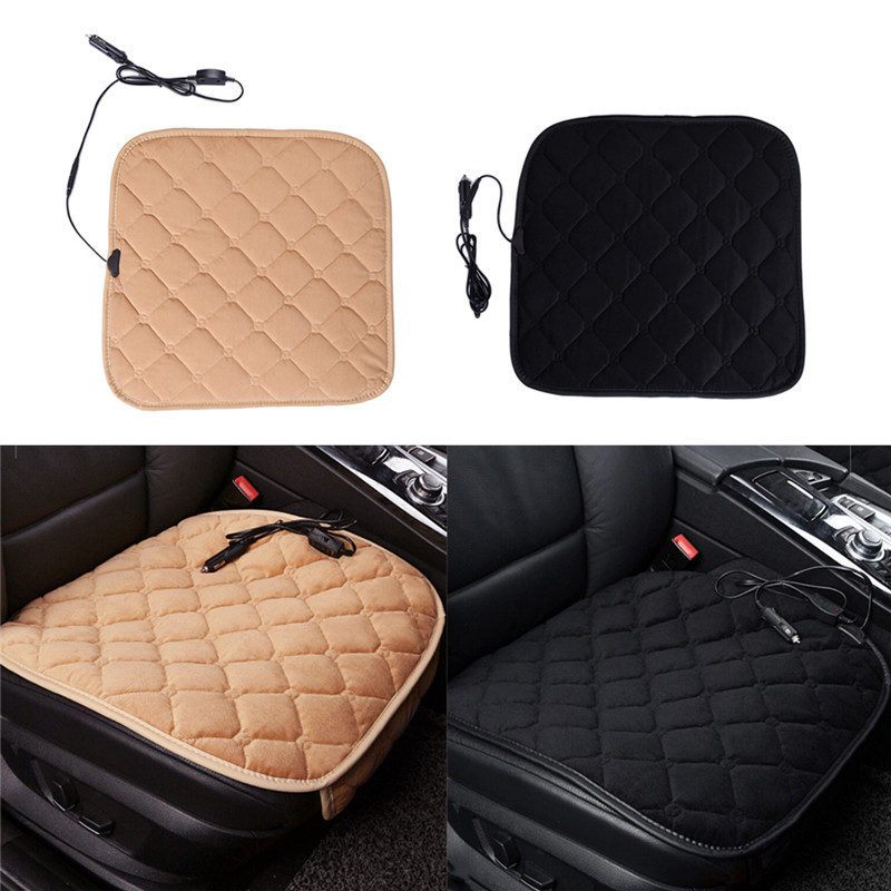 winter car heating cushion plush heater pad heating car warmer seat cushion electric heated. Black Bedroom Furniture Sets. Home Design Ideas