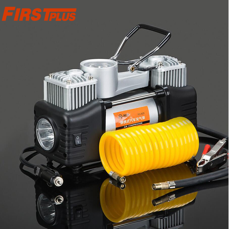 12V Air Compressor Pump Tyre Tire Inflator 150PSI with Tyre Pressure Monitor LED Light For Automotive Motorcycle Bicycle Outdoor 12v portable digital car air tire compressor double cylinder heavy duty 150psi tyre pressure inflator pump vacuum cleaner