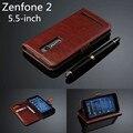 Zenfone 2 5.5-polegadas titular do cartão de couro da tampa do caso para asus zenfone 2 caso de telefone tampa flip ultra fino carteira