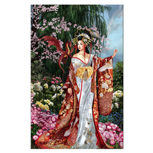 Ancient Chinese beauty and dragon diy diamond painting mosaic 3d cross stitch picture H816