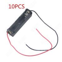 10PCS AAA Batterien Lagerung Fall Kunststoff Box Halter mit 6 ''Kabel Blei für 1 x AAA Batterie Löten anschließen Schwarz Digital-in Batterie-Aufbewahrungsboxen aus Verbraucherelektronik bei