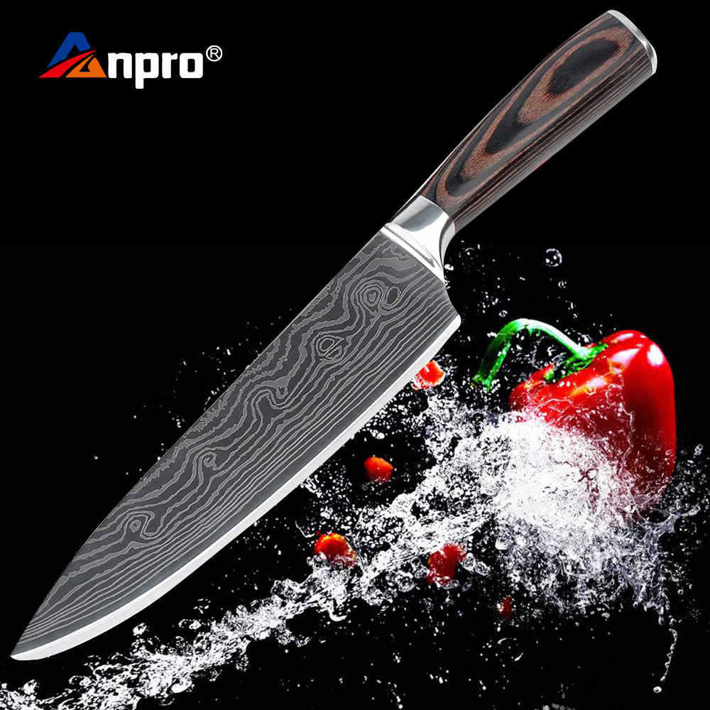 Damascus Stainless Steel Kitchen Knife 8 inch Santoku Japanese Chef Knife Japan Cooking Knives For Meat Vegetable Cooking
