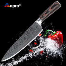 Damascus Stainless Steel Kitchen Knife 8 inch Santoku Japanese Chef Knife Japan Cooking Knives For Meat Vegetable Cooking(China)