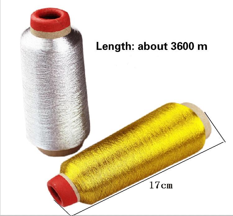 Gold / silber linie computer kreuzstich stickgarn / linie / textil metallisch garn gewebt sticklinie