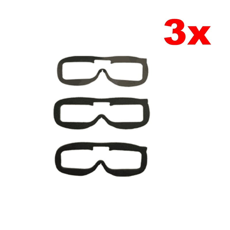 Free Shipping 3PCS 3x Fatshark Goggles Headset Video Glasses Replacement Faceplate Foam Pads For FPV Goggle Accessories topeak outdoor sports cycling photochromic sun glasses bicycle sunglasses mtb nxt lenses glasses eyewear goggles 3 colors