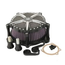 Motorcycle Modified Air Cleaner Intake Filter For Harley Softail Dyna Fat Boy Glide Rocker Touring Electra Glide Road King(China)