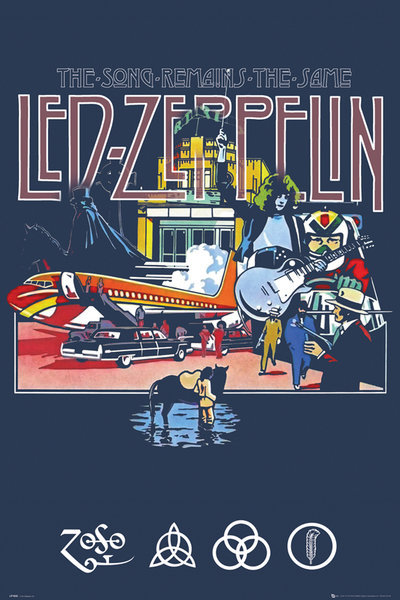 LED ZEPPELIN – MUSIC art silk Poster