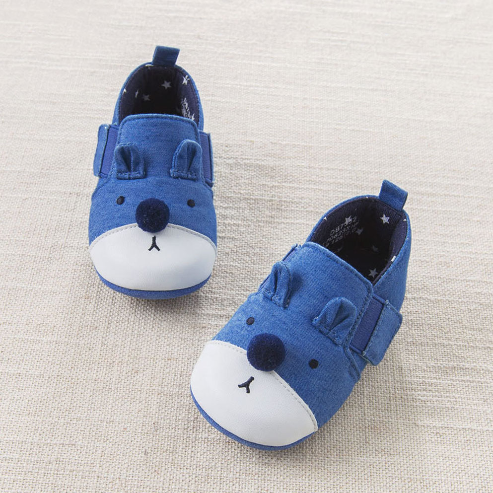 2018 Spring Baby Shoes Cute Puppy White Blue Patchwork ...