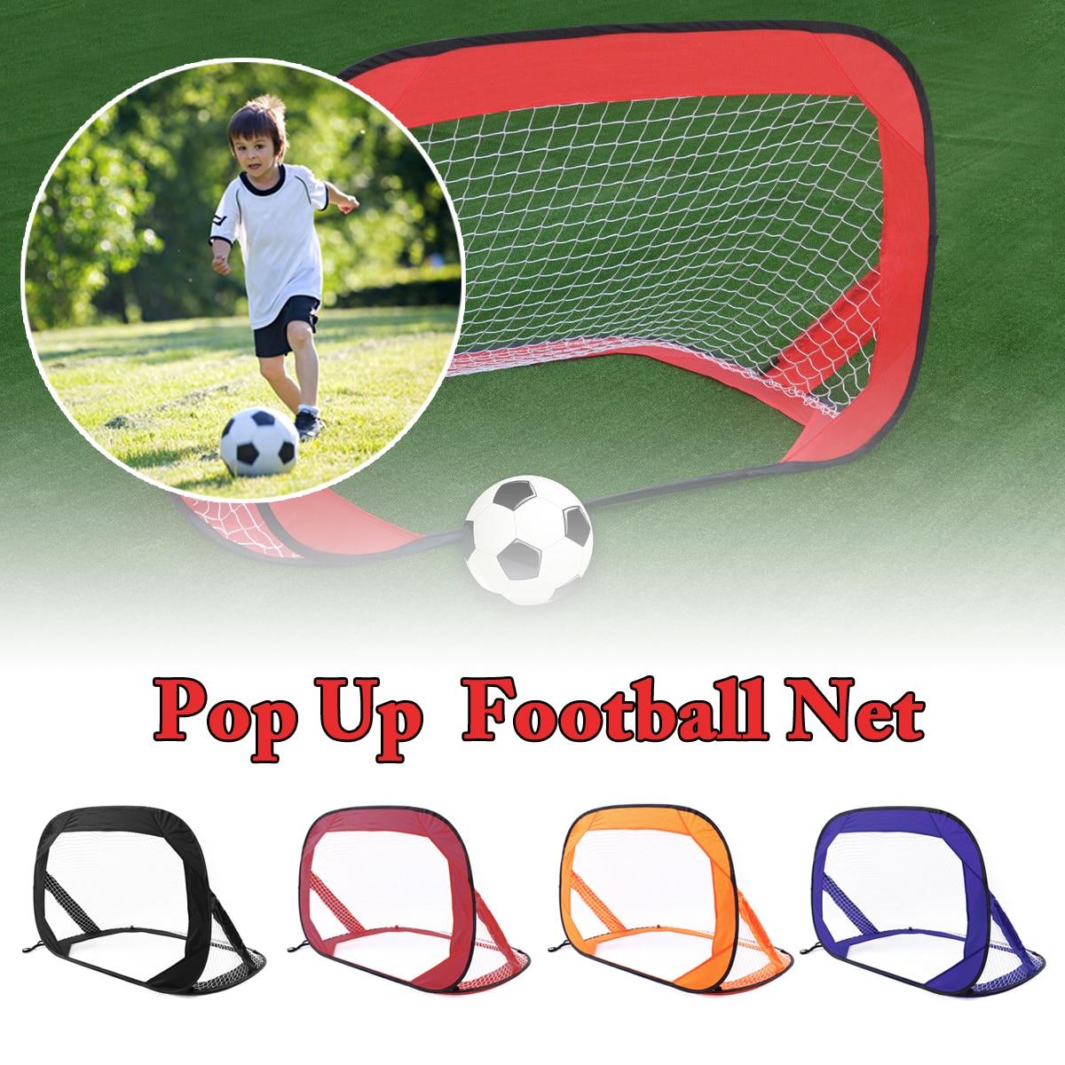 2 pièces Pliage Pop-up buts de Football Net Tente En Plein Air Intérieur Enfants Enfants Jouer jouet sport Portable Football Formation Réseau