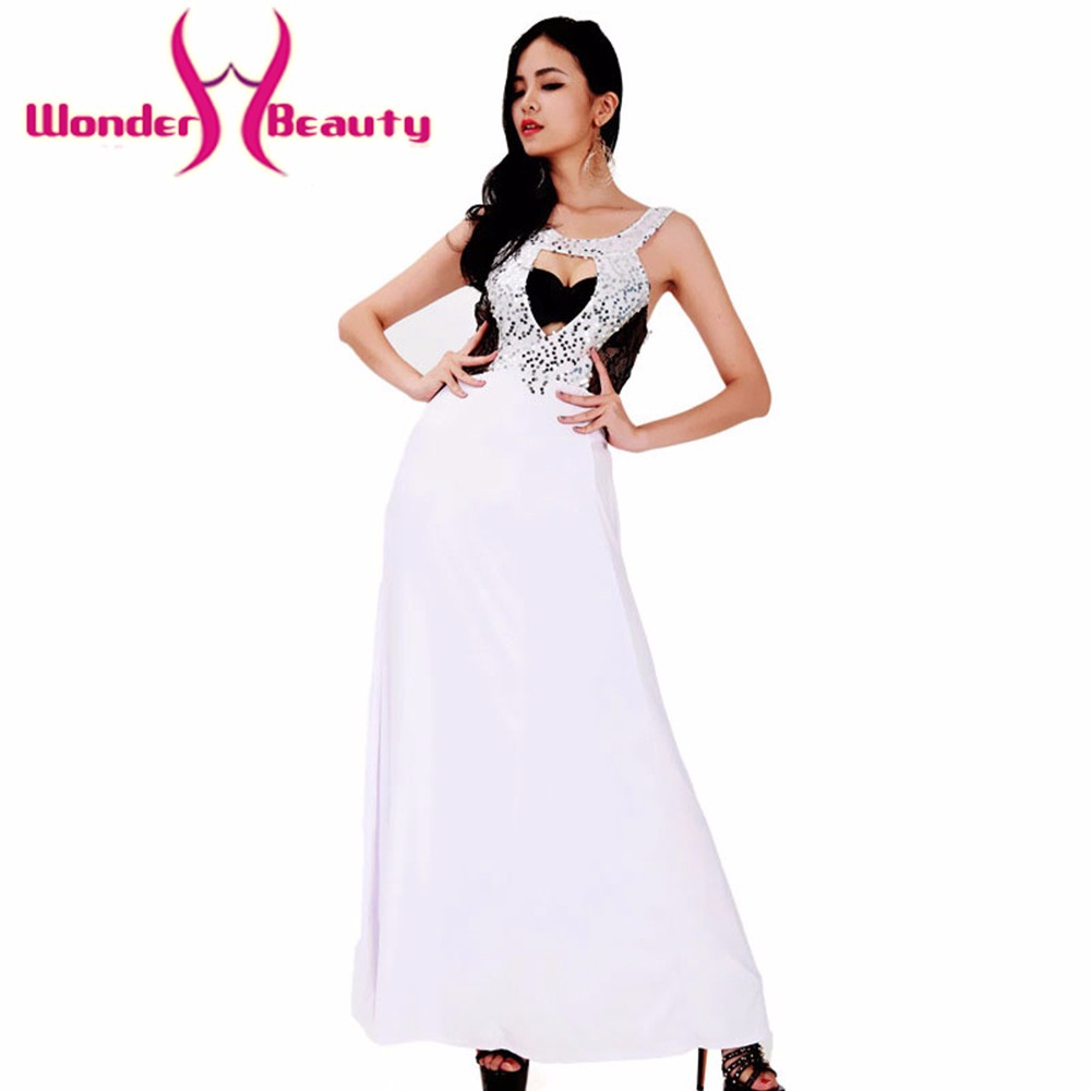 Wonder Beauty Women Elegant Long White Fit And Flare -3629