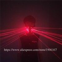 Fashion Red Laser Mask Luminous Light Up Laserman Face Mask Laser Show Halloween Masks For Laser Stage Dancer Party Supplies