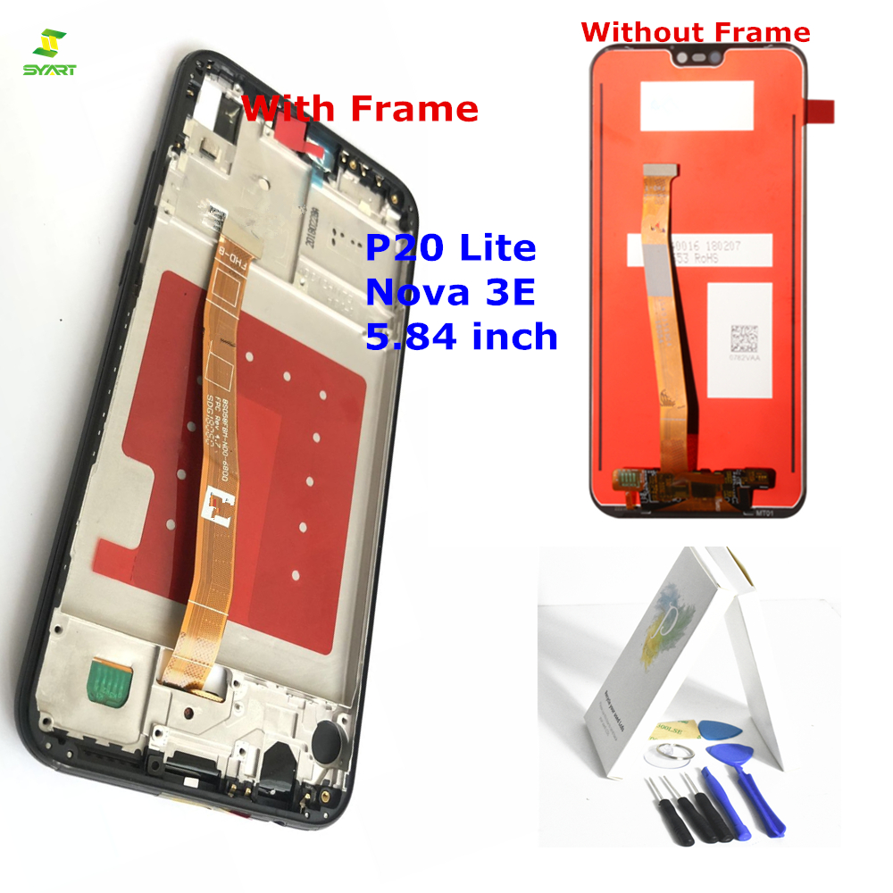 Nova 3E For Huawei P20 Lite LCD Screen Display +Touch Screen 5.84'' New Digitizer Assembly Replacement Screen Panel Tool kits