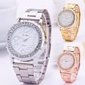 1pc 2017 new arrival women ladies bracelet watches wrist clocks hour Quartz Wristwatches Steel strap big dial Bangle gift X3