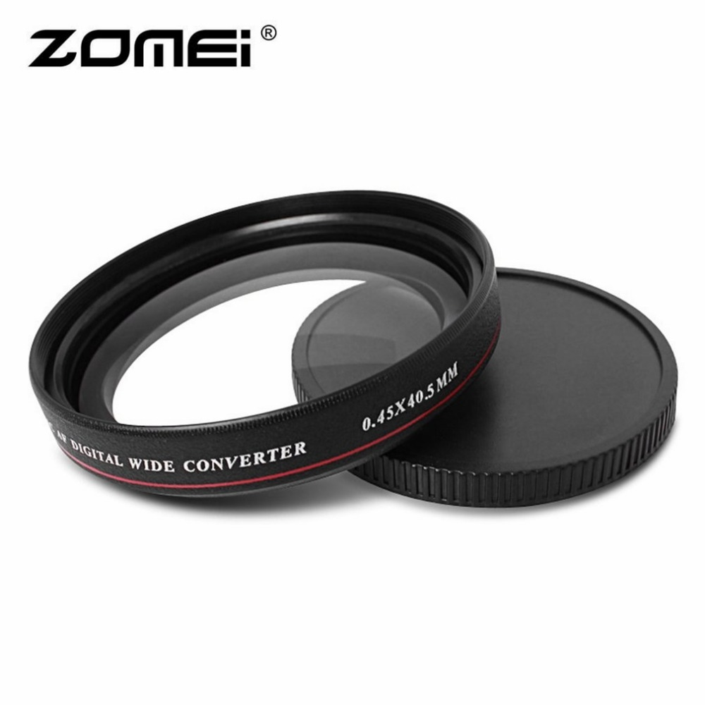 ZOMEI Ultra-thin 0.45X Wide Converter Wide Angle Multi-Coated Optical Glass Filter 40.5mm 49mm 52mm 58mm 62mm 67mm 72mm 77mm zomei 62 mm 0 45x wide angle filter lens multi coated agc optical glass mc af wide converter for digital slr camera lens