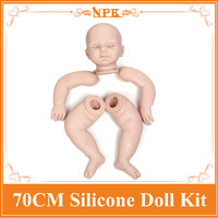 Popular 70cm 28inch Reborn Baby Doll Kits Set One Head Two Hands Two Legs Best Reborn