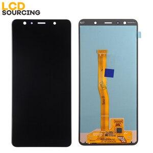 """Image 2 - 100% оригинал 6,0 """"для Samsung A7 2018 ЖК дисплей сенсорный экран дигитайзер сборка для SM A750 A750FN A750F A7 дисплей Замена"""
