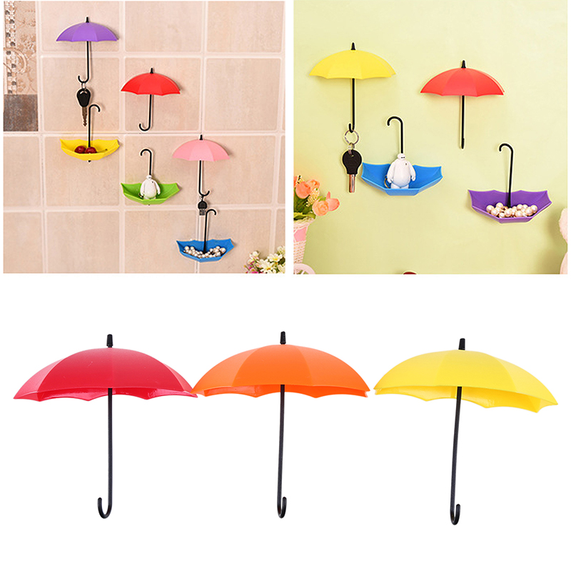 3 Pcs/Lot Colorful Creative Umbrella Shape Decorative Self Adhesive ...