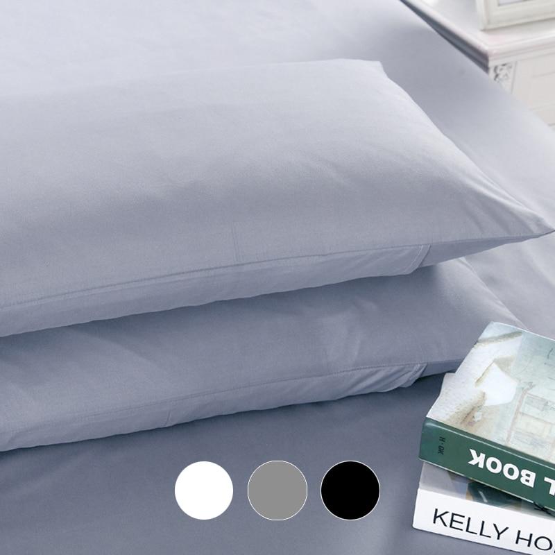 Custom Plain Pillow Case Pillowcase 50x70 50x75 50x80 70x70 Decorative Pillow Cover Bedding For Hotel Wedding White Black Gray