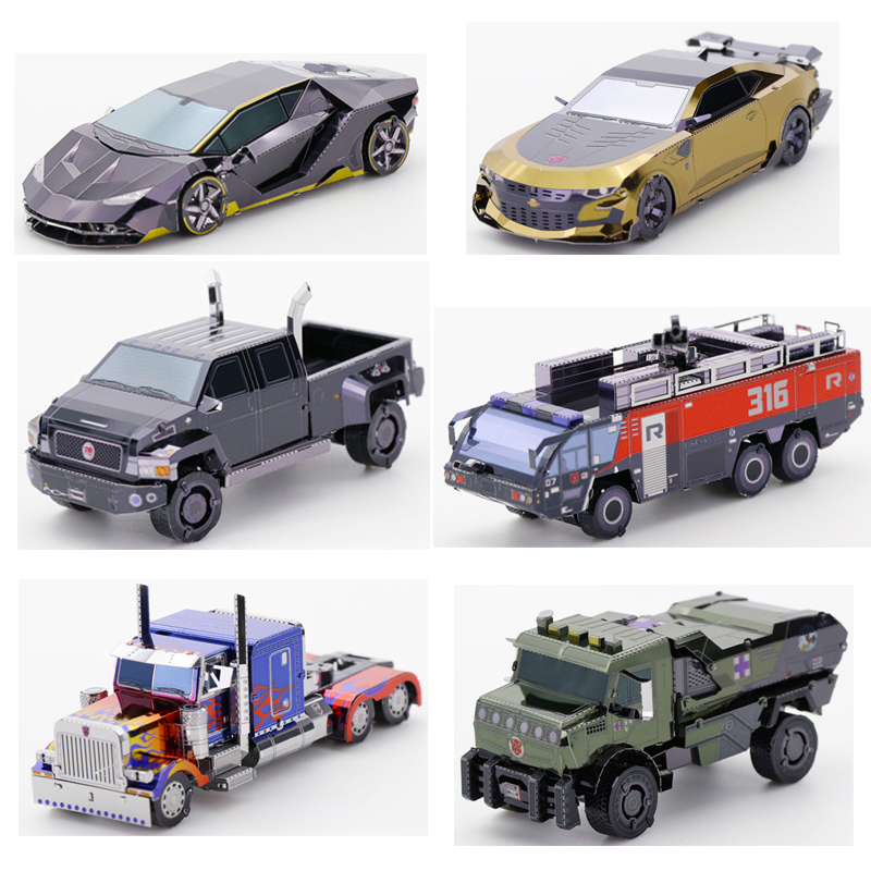 2019 MU 3D Metal Puzzle Robot Car Model DIY 3D Laser Cut Assemble Jigsaw Toys Desktop Decoration GIFT For Children Adult