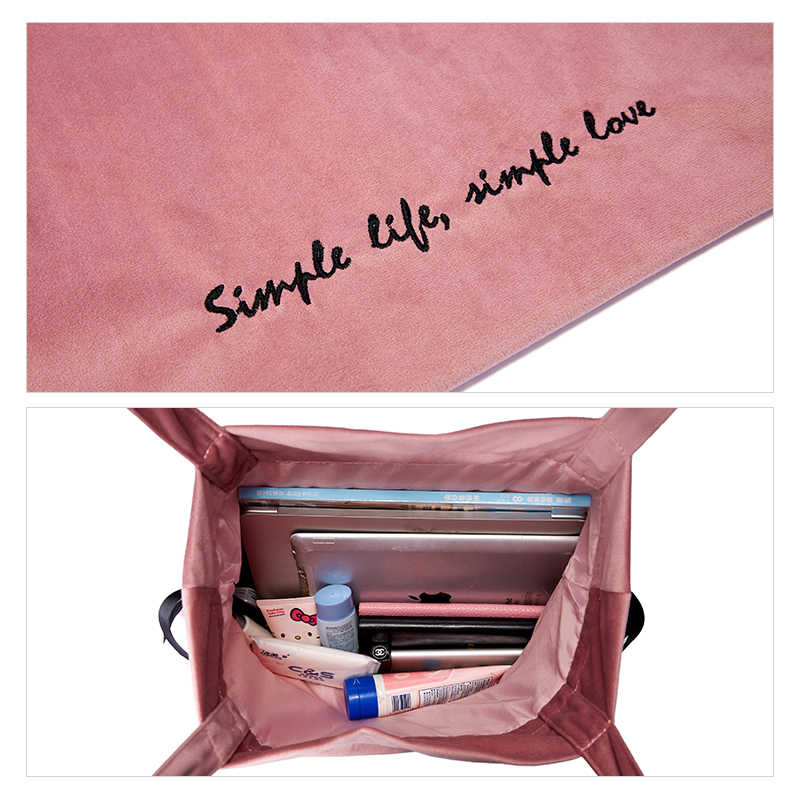 EMINI HOUSE бархатная женская сумка-тоут Повседневная сумка на плечо модная вместительная женская сумка-мессенджер доставка сумки