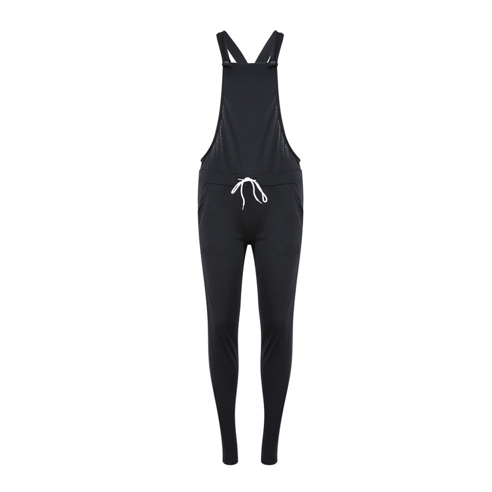 2018 New Arrivals Black Spaghetti Rompers Womens Long Pants Bandage Overalls Rompers Womens Jumpsuit Womens Clothing 3