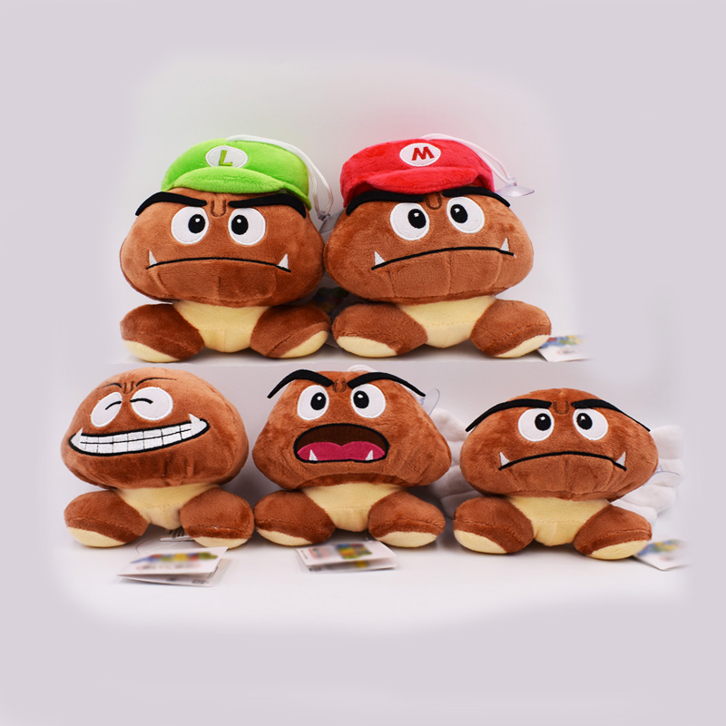 12CM 5styles Super Mario Bros Goomba Plush Stuffed Dolls Plush Toys Figures Toys Kids Toys For Children