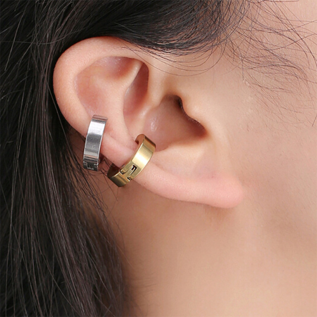 1 Pcs Ear Clip Non Piercing Earrings Fake Earrings for Men Circle Round Earring Fashion Jewelry.jpg 640x640 - 1 Pcs Ear Clip Non Piercing Earrings Fake Earrings for Men Circle Round Earring Fashion Jewelry Punk Rock Style