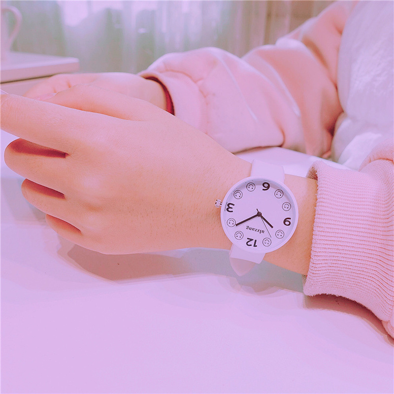 Cute Cartoon Smile Face Children Quartz Watches Silicone Kids Sweet Women Lovely Wristwatch Child Watch Boys Girls Student Gift u pick fashion lovely smile face transparent tpu backpack