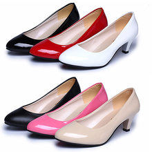 Works Autumn Fashion Trendy Elegants Women Ladies Shallow Low Pumps Platforms Rounds Toe Heels Office Wedding Shoes Zapatos L563