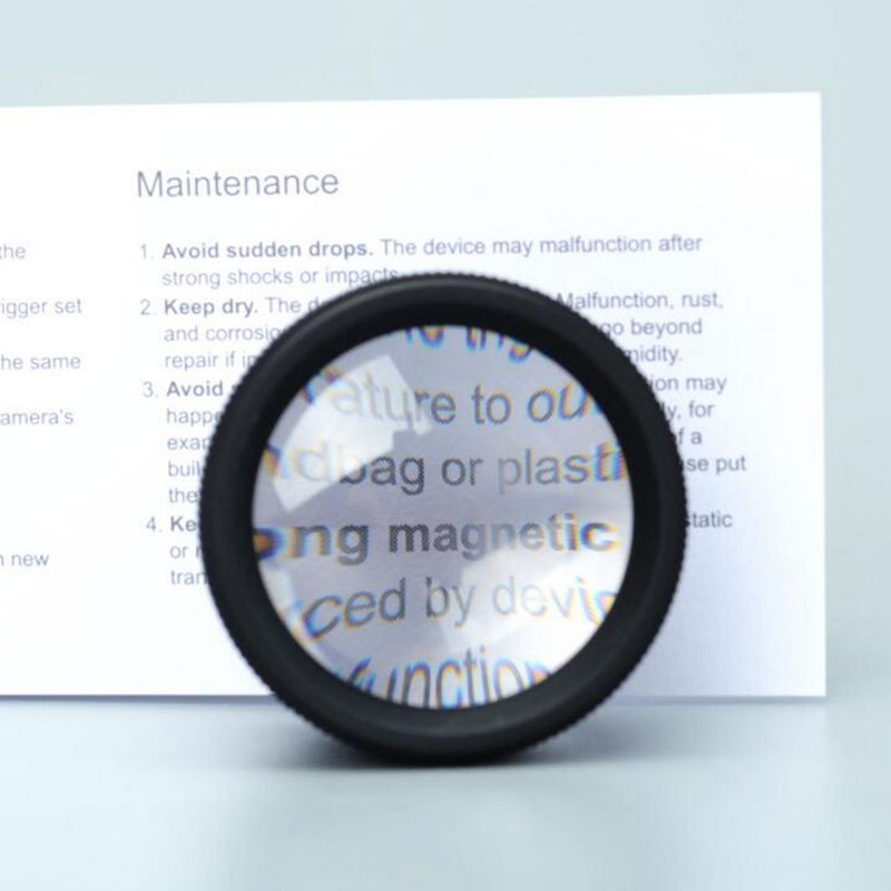 30x HD Loudspeaker Mini Double Glass Magnifier Jewelery Identification Maintenance Older Reading Magnifier Lupa
