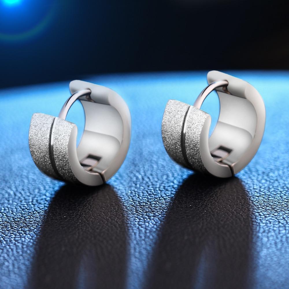 Pameng New Men Jewelry Earrings Earrings Stainless Steel Stud Earrings Greek Key boucle doreille E0481 Gold Color