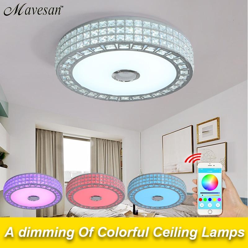 Bluetooth lautsprecher led lampe decke wohnzimmer mit bunten & RGB ...