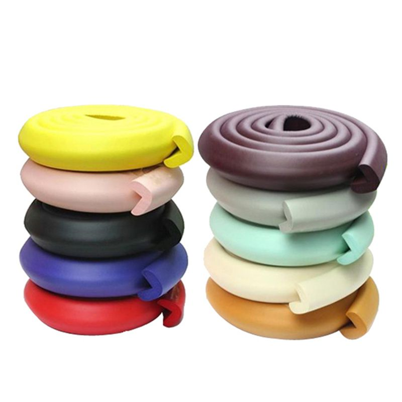 1PC 2M Baby Safety Anti-crash Strip Protector Soft Desk Table Edge Corner Guard Strip Children Security Cushion Random Color