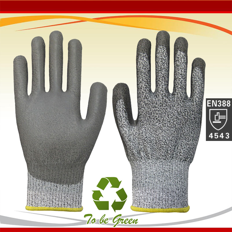 цены  NMSafety PU Coated Cut Resistant Gloves, Non-slip, Machine Launderable, Ideal for Construction,Wood Working Glove