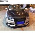 A4 B8 карбоновые накладки на передний капот из углеродного волокна для Audi A4 B8 09-12