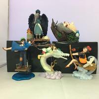 5pcs/set Studio Ghibli Anime My Neighbor Totoro Castle In The Sky Kiki's Delivery Service Action Figure Creative Landscape Doll