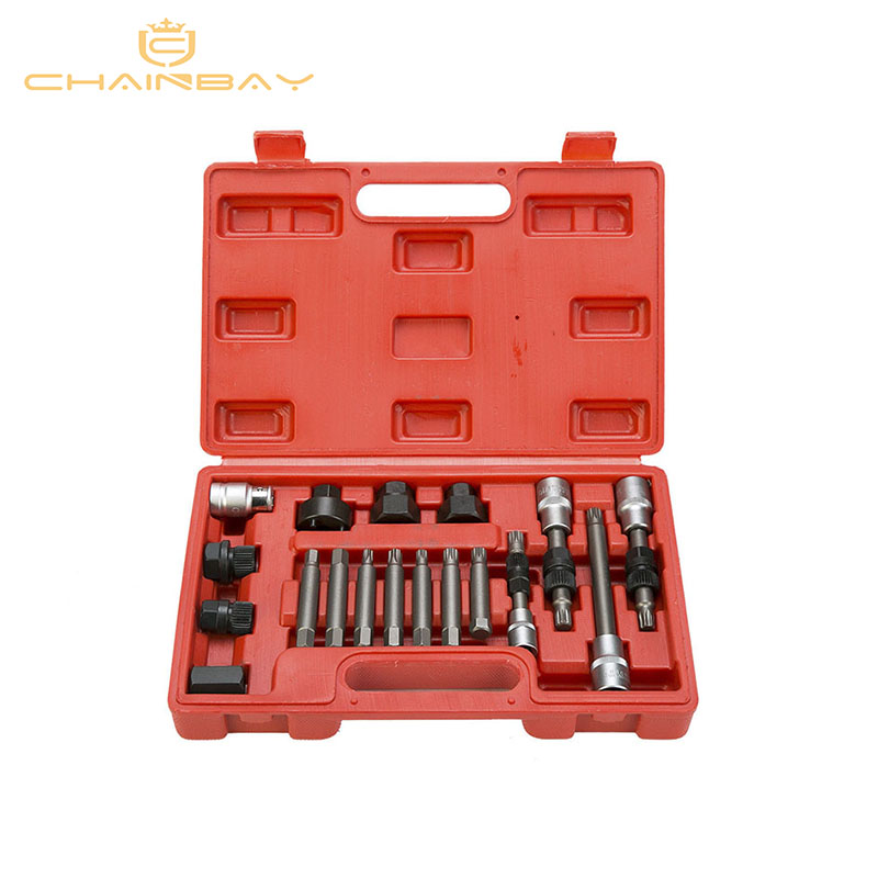 18pcs Alternator Repair Tool of Alternator Freewheel Pulley Puller Removal Socket Tool Kit