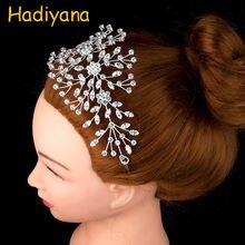 Hadiyana новинка свадебная корона с фианитом диадема для невесты