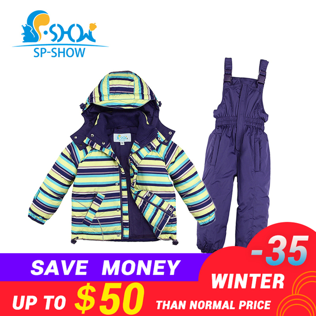b04b8295e5 BUY 1 SUIT GET 1 FREE SCARF -30 degrees SP-SHOW Winter 90% White down coats  Kids clothing boys and girls ski jacket suit 009011