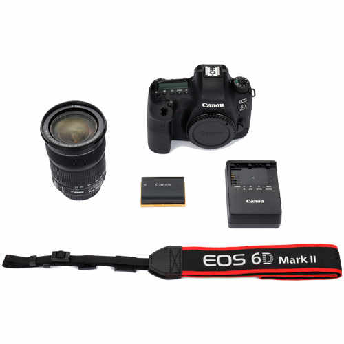 كاميرا Canon 6D Mark II DSLR مزودة بعدسة EF 24-105 مللي متر F/4L IS II USM