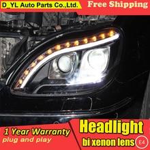 تصفيف السيارة ل بن Z S280 S320 S500 S600 المصابيح الأمامية 1998 2001 W220 LED العلوي DRL ثنائية زينون عدسة شعاع وقوف السيارات HID الضباب مصباح