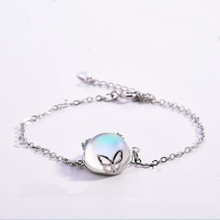 Everoyal Fashion 925 Sterling Silver Bracelets For Girls Accessories Charm Crystal Round Butterfly Bracelet Women Birthday Gift