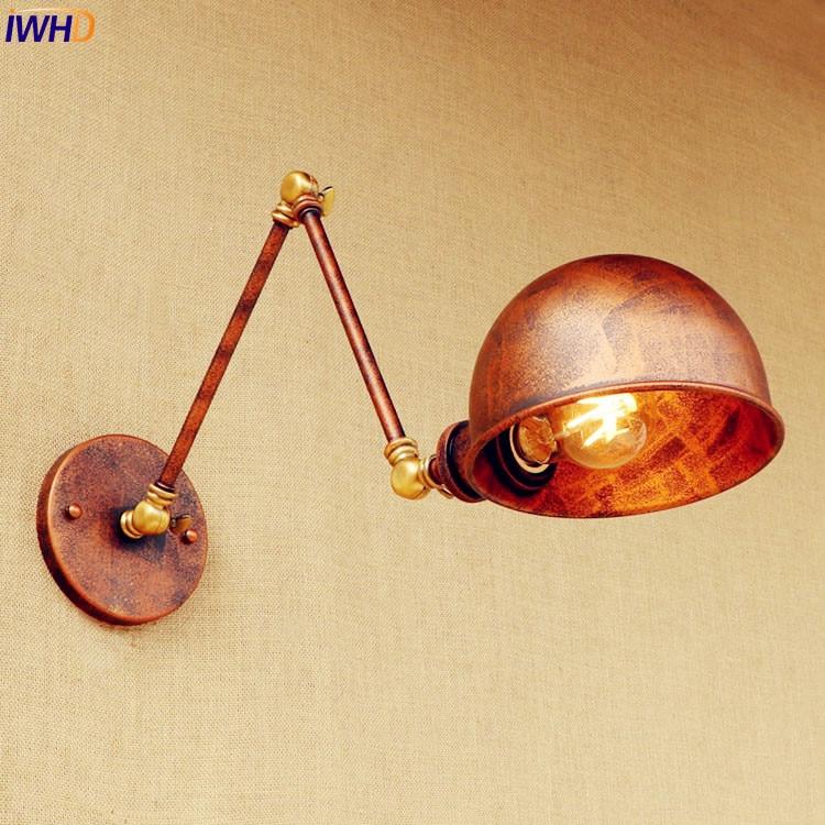 Loft style Antique Wall Lamp Retro Wandlamp Adjsutable Swing Long Arm Vintage Wall Light Fixtures Sconce Appliques Pared