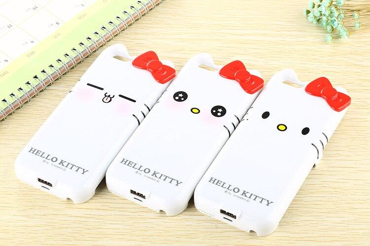 imágenes para Envío libre de hello kitty 10000 mAh caso de alimentación Externa de Energía paquete de Batería de Reserva Del Cargador Para el iphone 6 6 s 4.7 pulgadas