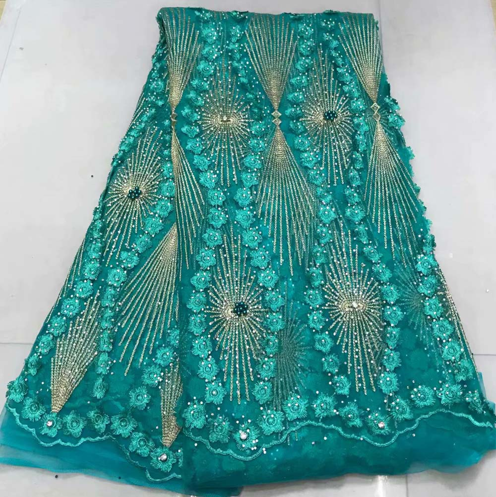 Latest Nigerian Lace Fabrics green Tissu Africain Guipure Embroidered African French Lace Fabric High Quality WithLatest Nigerian Lace Fabrics green Tissu Africain Guipure Embroidered African French Lace Fabric High Quality With