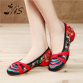 New Fashion Chinese Style Women Shoes Retro Mary Jane Flats Summer Casual Embroidered Flower Cloth Shoes For Woman Hot Selling