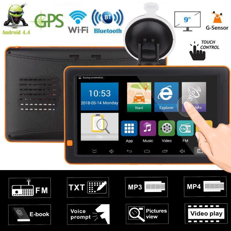 9 pouces voiture GPS navigateur Bluetooth WiFi Android FM Vision nocturne AV en 512 M + 16G Nav camion GPS navigateurs Automobile véhicule GPS